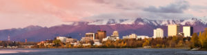 Picture of horizon in downtown Anchorage Alaska