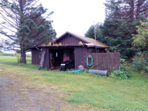 East End Road with cabin out front, commercial real estate in Alaska