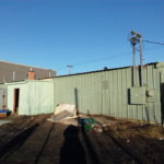 picture of green warehouse for lease, commercial real estate in Anchorage, Alaska