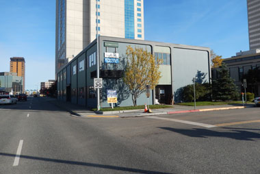 outside of 731 i street, for lease in Anchorage Alaska
