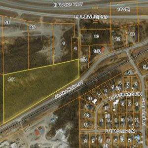 Bird's eye view of land for sale in Wasilla AK, property A11