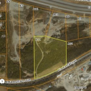 Bird's eye view of land for sale in Wasilla AK, property A14