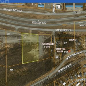 Bird's eye view of land for sale in Wasilla AK, property A9