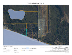Bird's eye view of cook inlet land for sale in Alaska, second shot