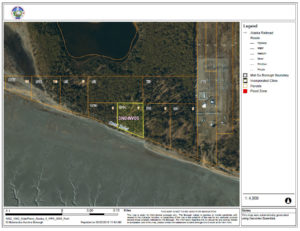 Bird's eye view of cook inlet land for sale in Alaska, third shot